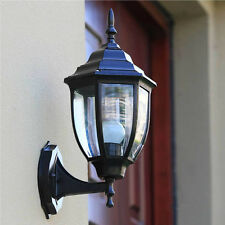 Yard Aluminum Outdoor Lamp Exterior Lantern Wall Lighting Fixture Black Sconce