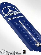 Thermometer, original Mercedes-Benz Kundendienst blau, Blech Emaille | B66041493