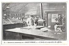 CPA -69-  LYON - LE SALUT PUBLIC - L'Atelier de composition des affiches.