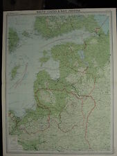 1920 LARGE MAP ~ BALTIC STATES & EAST PRUSSIA RIGAGOTLAND ESTHONIA