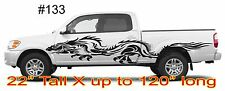 Dragon side decals for side of car or truck Set of 2 huge decals #133 up to 120""