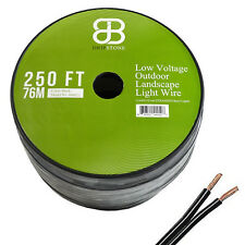 250ft Low Voltage 12/2 Outdoor Lighting Wire COPPER Landscape Cable 250 ft Black