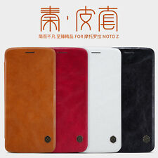 Genuine Nillkin Qin Flip PU Leather Phone Cover Case For Moto Z / G4 / G4 Plus