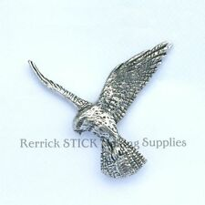 ONE PEWTER BADGE FOR WALKING STICK MAKING FALCON