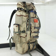 80L Military Tactical Molle Backpack Waterproof Camping Climbing Rucksack Camo