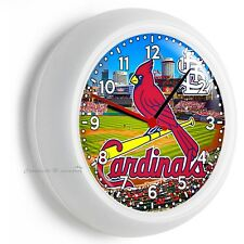 ST LOUIS CARDINALS MLB BASEBALL TEAM WALL CLOCK MAN CAVE LIVING ROOM BOY BEDROOM