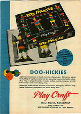 1946 PAPER AD 2 Sided Play Craft Doo Hickies Wood Wooden Kiddiepegs IQ Puzzle