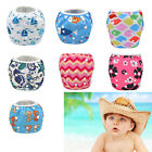 Cute Baby Swim Diaper Nappy Pants Adjuatable Reusable Infant Toddler 0-3 Years