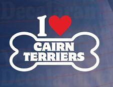 'I Love/Corazón Cairn Terriers' Novedad Hueso Coche/Pegatina Para Furgoneta