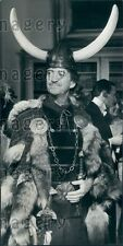 1966 British Actor David Niven in Viking Getup in Lady L Press Photo