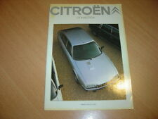 CATALOGUE Citroën CX Injection de 1982