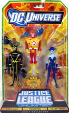Justice League Unlimited 3-Pack ANGLE MAN FIRESTORM KILLER FROST Figure Set NEW!