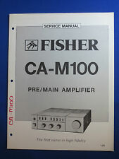 FISHER CA-M100 PREAMPLIFIER SERVICE MANUAL ORIGINAL GOOD CONDITION