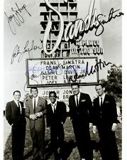 THE RAT PACK SIGNED PHOTO RE-PRINT SINATRA MARTIN #239