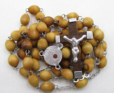 """†  """"BLESSED"""" OLIVE WOOD JERUSALEM PILGRIMAGE RELIC ROSARY GIFT WITH PURCHASE †"""
