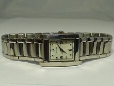 Bulova Ladies Stainless Square Watch White Face - Works