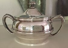 Antique The Plains Hotel Wyoming Silver Sugar Old Silverplate Vtg.