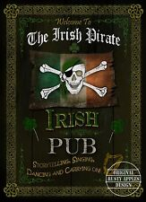 SKULL & CROSSBONES  IRISH PUB SIGN VINTAGE STYLE METAL SIGN GREAT GIFT