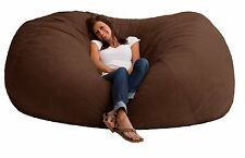 New Giant Bean Bag Chair Oversized 7 Ft XXL Large Comfort Suede Dorm Fuf Browen