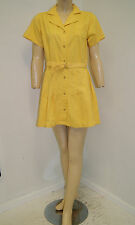 Vintage 30's 40's Yellow High School Gym Physical Ed Uniform - Dress & Bloomers