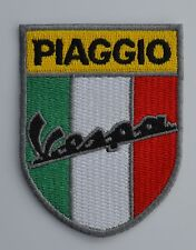 Vespa Piaggio Italian Shield Embroidered Iron On/Sew On Patch