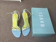 Pastel Blue Green Scrappy T Bar Sandals By Ravel Size 5/38