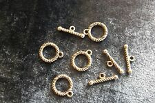 TOGGLE CLASP 13 MM TIBETIAN SILVER 8 SETS