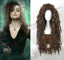 Cosplay Wigs Harry Potter Bellatrix Brown Style Fluffy Wavy Curly Cos Wig/Hair