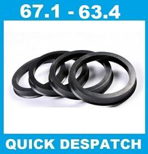 4 X 67.1 - 63.4 ALLOY WHEEL LOCATING HUB SPIGOT RINGS FIT FORD FOCUS CMAX