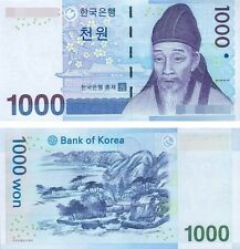 South Korea 1000 Won Pick 54 2007 Banknotes UNC Uncirculated P-54 1,000