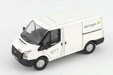 Irish Airline Aer Lingus Cargo Transit Van White MINIATURE Die Cast Model 1:76