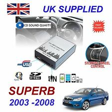 SKODA Superb 2003 - 2008 mp3 USB SD CD AUX input audio digitale Caricatore CD Modulo