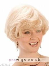 100% Real Hair Beautiful Sexy Short Blond Curly Wig For Women Human Hair NEW