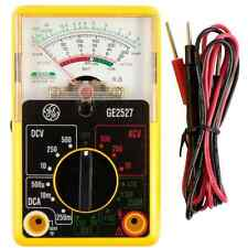 Analog Multimeter Volt Ohm AC DC Multi Meter, V-Voltage, A-Amp, General Electric