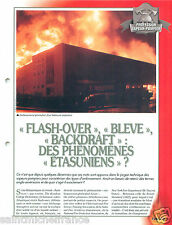 Flash-Over Bleve Backdraft Phenomenes USA Sapeurs Pompiers FICHE FIREFIGHTER