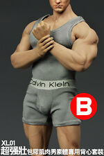 McToys 1/6 Scale Grey X-large Tank Top + Under Wear Set For Phicen M34 Body