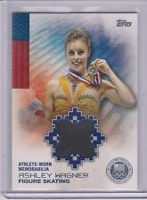 RARE 2014 TOPPS OLYMPIC ASHLEY WAGNER SILVER RELIC CARD 12/50 ~  FIGURE SKATING