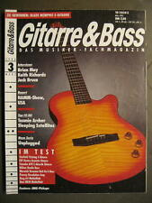 GITARRE & BASS 1993 # 3 - BRIAN MAY KEITH RICHARDS JACK BRUCE EMG PICKUPS NAMM