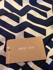 WEST ELM SILK STACKED GEO PILLOW COVER COLOR:NIGHTSHADE H-T-F SET/2