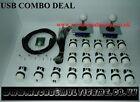 USB Arcade Joystick Controller For PC & PS3 (2 Player) 16 x WHITE BUTTONS SET