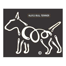 Bull Terrier K-Lines Dog Car Window Tattoo Decal Sticker
