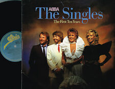 ABBA The Singles The First Ten Years 2xLP+Inserts EPIC UK ABBA10 A1/B1/C1/D2 exc