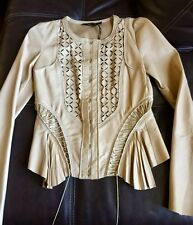 Roberto Cavalli womens leather jacket size 38 US S NWT