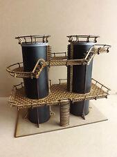 Industrial building Dual Silos scenery terrain warhammer 40k wargame Infinity