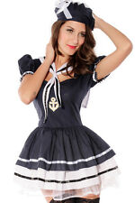 Sexy Women's Sailor Fancy Dress Costume SIZE 14- 16