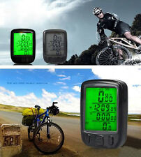 Wired Waterproof Bicycle Bike Cycle LCD Digital Computer Speedometer Odometer
