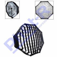 "Phot-R 95cm/37"" Octagon Umbrella Softbox Reflector Speedlight Honeycomb Grid"