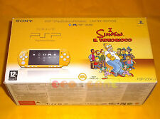 CONSOLE PSP LIMITED EDITION I SIMPSON Gialla The Simpsons Yellow ○ COMPLETA - AI