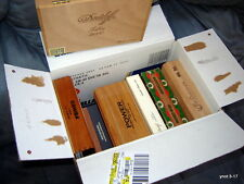7-lot  WOOD CIGAR BOX: Danidoff;Cohiba;Power;Avo;Churchill;Montesino;Dominicana