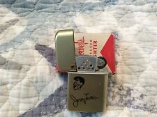 Custom engraved Jerry Lewis Storm Master Bowers Gold Tone Lighter circa 1960's